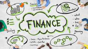 De Rijkdom van financiëninkomens investeert Activaconcept royalty-vrije stock foto