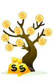 De rijke boom, gloden boom Royalty-vrije Stock Fotografie
