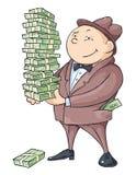 De rijke man Stock Foto's