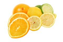 De rijke verse citrusvruchten van de vitamine C Royalty-vrije Stock Foto's