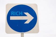 De rijken ondertekenen Stock Afbeelding