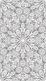 De rijken verfraaiden kalligrafische geschetste zwart-wit naadloos Royalty-vrije Stock Foto's