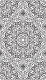 De rijken verfraaiden kalligrafische geschetste zwart-wit naadloos Royalty-vrije Stock Afbeelding