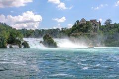 De Rijn valt dichtbij Schaffhausen in Zwitserland Royalty-vrije Stock Fotografie