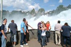 De Rijn-watervallen in Neuhausen op Zwitserland Royalty-vrije Stock Foto