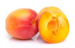 De rijpe abrikozen sluiten omhoog Stock Afbeeldingen