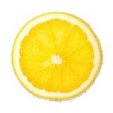 De rijpe en sappige plak van Nice van een behandelde sinaasappel Stock Afbeeldingen