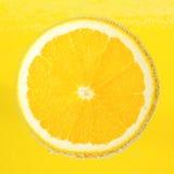 De rijpe en sappige plak van Nice van een behandelde sinaasappel Royalty-vrije Stock Foto