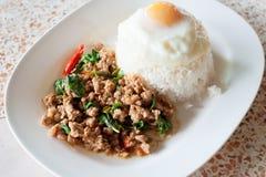 De rijst met beweegt gebraden Royalty-vrije Stock Afbeeldingen