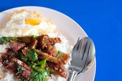 De rijst met beweegt gebraden Royalty-vrije Stock Fotografie