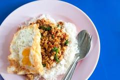 De rijst met beweegt gebraden Stock Fotografie