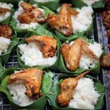 De rijst van de brandkip Stock Fotografie