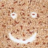 De rijst van de glimlach Stock Foto's