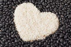 De rijst van de hartvorm Royalty-vrije Stock Foto's