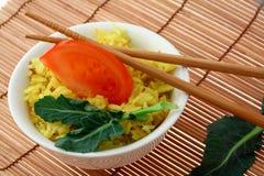 De rijst van de kerrie Stock Afbeelding