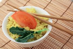 De rijst van de kerrie Stock Afbeeldingen