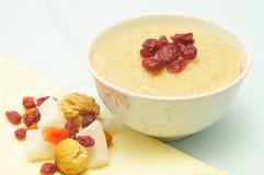 De rijst van de melk met droog fruit Royalty-vrije Stock Afbeelding