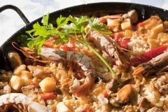 De rijst van de paella Royalty-vrije Stock Fotografie