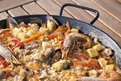 De rijst van de paella Stock Foto