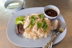 De rijst van de stoomkip Stock Foto