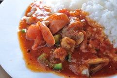 De rijst van de tomatenwortel Stock Foto's