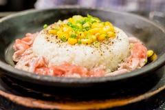 De rijst van de varkensvleespeper Stock Foto's