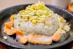 De rijst van de zalmpeper Stock Afbeelding