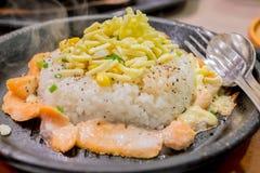 De rijst van de zalmpeper Royalty-vrije Stock Afbeelding