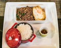 De rijst van het rundvleesbasilicum Royalty-vrije Stock Foto