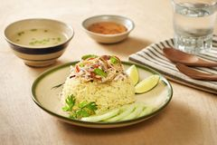 De rijst van de kip Kippenrijst in Hoi An, Vietnam Hoi An, als Faifo wordt bekend die Hoian in Vietnam ` s Quang Nam Province royalty-vrije stock fotografie