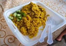 De rijst van kippenbiryani stock fotografie