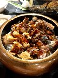 De rijst van Unagi Stock Foto's
