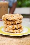 De rijstcracker (Khao-Tan) is het Thaise dessert stock afbeelding