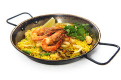 De rijstpilau van de paella Royalty-vrije Stock Fotografie