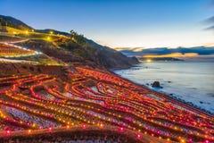 De Rijstterrassen van Shiroyonesenmaida, Wajima, Japan stock foto