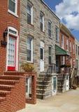 De Rijtjeshuizen van Baltimore Maryland stock foto's