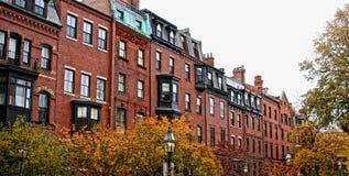 De rijtjeshuizen van Boston Royalty-vrije Stock Fotografie