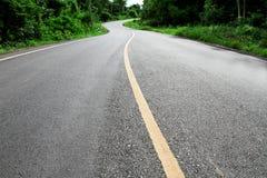 De rijweg van het asfalt Stock Afbeeldingen