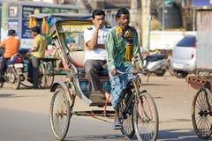 De riksja van de cyclus in Puri royalty-vrije stock foto's