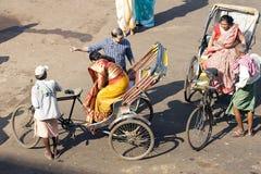 De riksja van de cyclus in Puri royalty-vrije stock fotografie