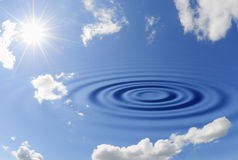 De rimpeling van de hemel stock afbeelding