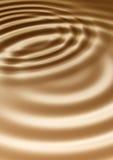 De rimpelingen van de chocolade Royalty-vrije Stock Afbeeldingen