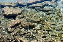De rimpelingen van het water bij het overzees Royalty-vrije Stock Afbeelding