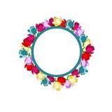 De ring van bloemen Stock Illustratie