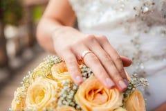 De ring van de bruid Stock Fotografie