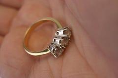 De ring van de diamant royalty-vrije stock foto