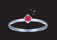 De ring van de diamant. Royalty-vrije Stock Fotografie