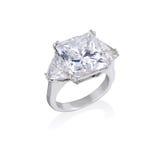 De ring van de diamant. Stock Afbeeldingen