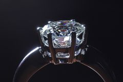 De ring van de diamant Royalty-vrije Stock Foto's