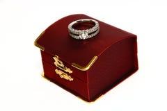 De Ring van de diamant Stock Fotografie